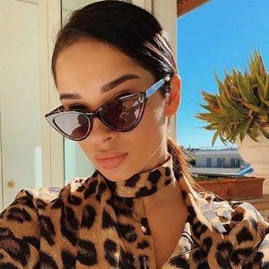 New Slim Leopard Cateye Sunglasses